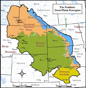 Northern Plains Region Map